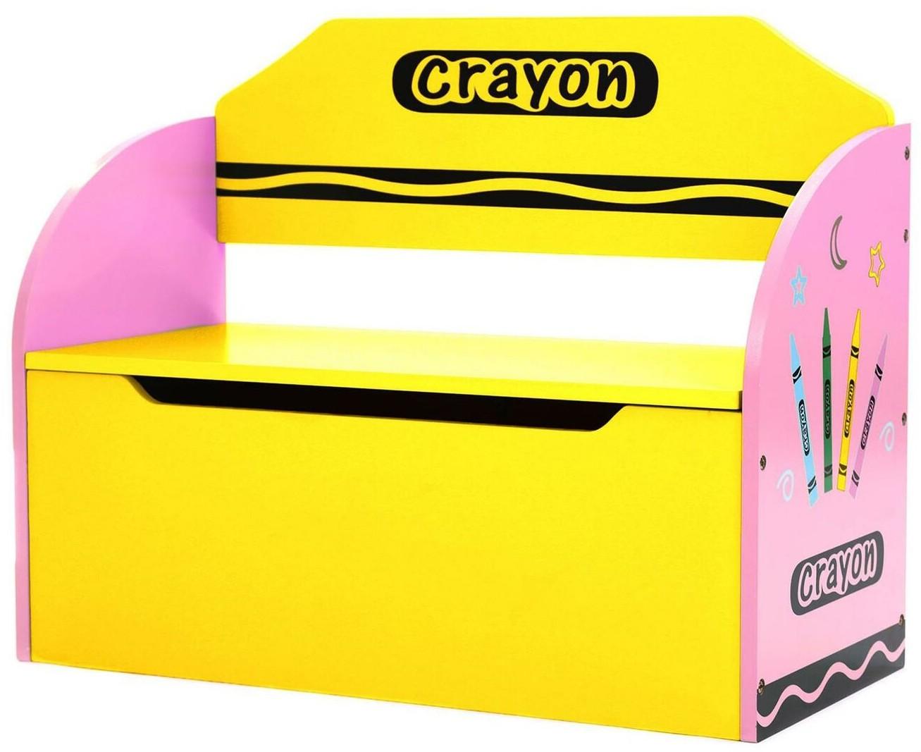 Bancuta pentru depozitare jucarii Pink Crayon imagine