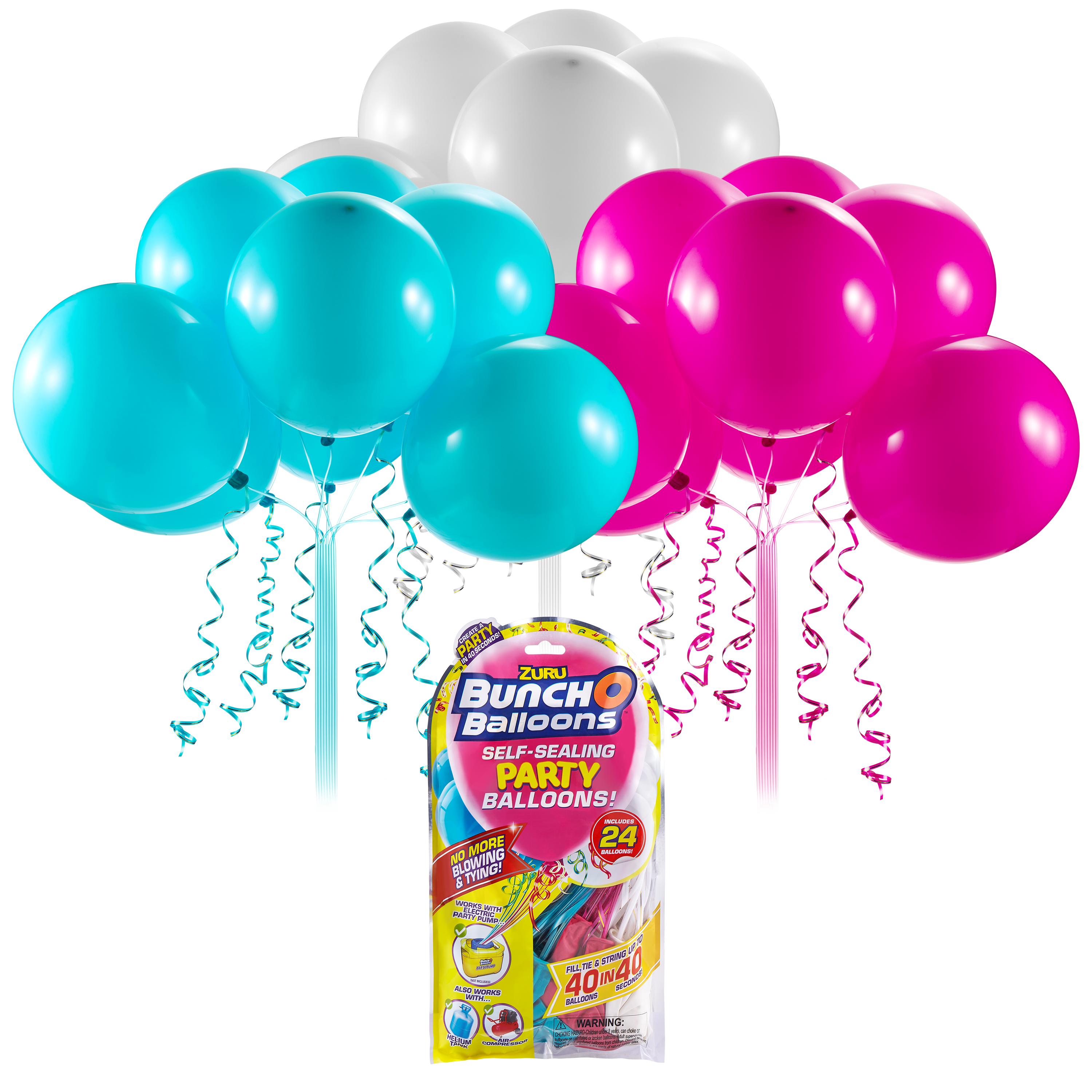 BUNCH O BALLOONS PARTY BALLOONS SET REFILL ROZ/BLEU/ALB