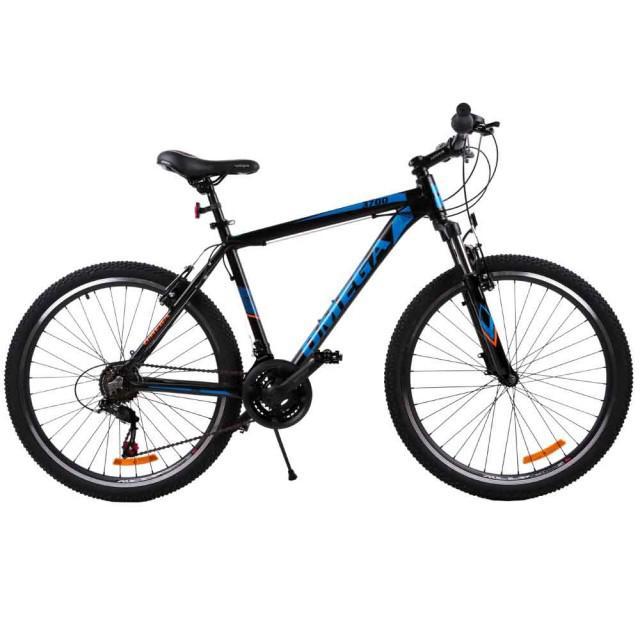 Bicicleta MTB OMEGA 3700 26 NEGRU ALBASTRU PORTOCALIU