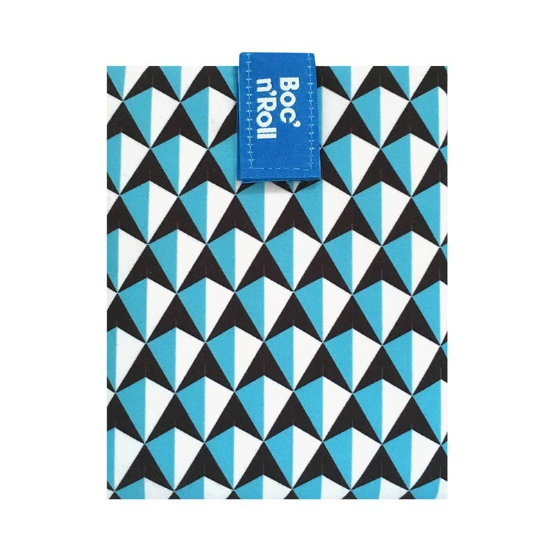Boc'n'Roll Tiles bleu, Ambalaj reutilizabil pentru sandwich imagine
