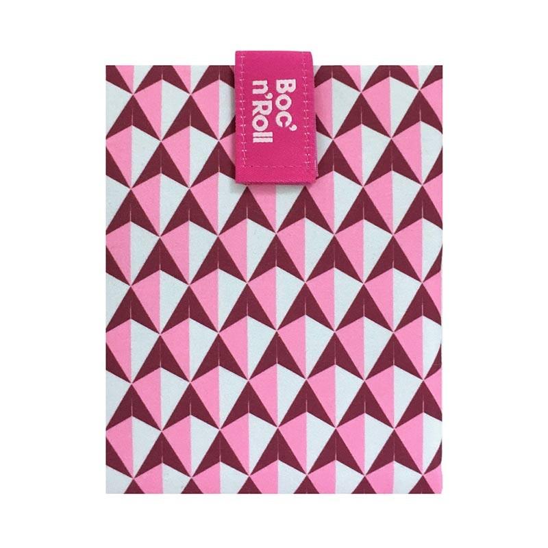 Boc'n'Roll Tiles roz, Ambalaj reutilizabil pentru sandwich imagine