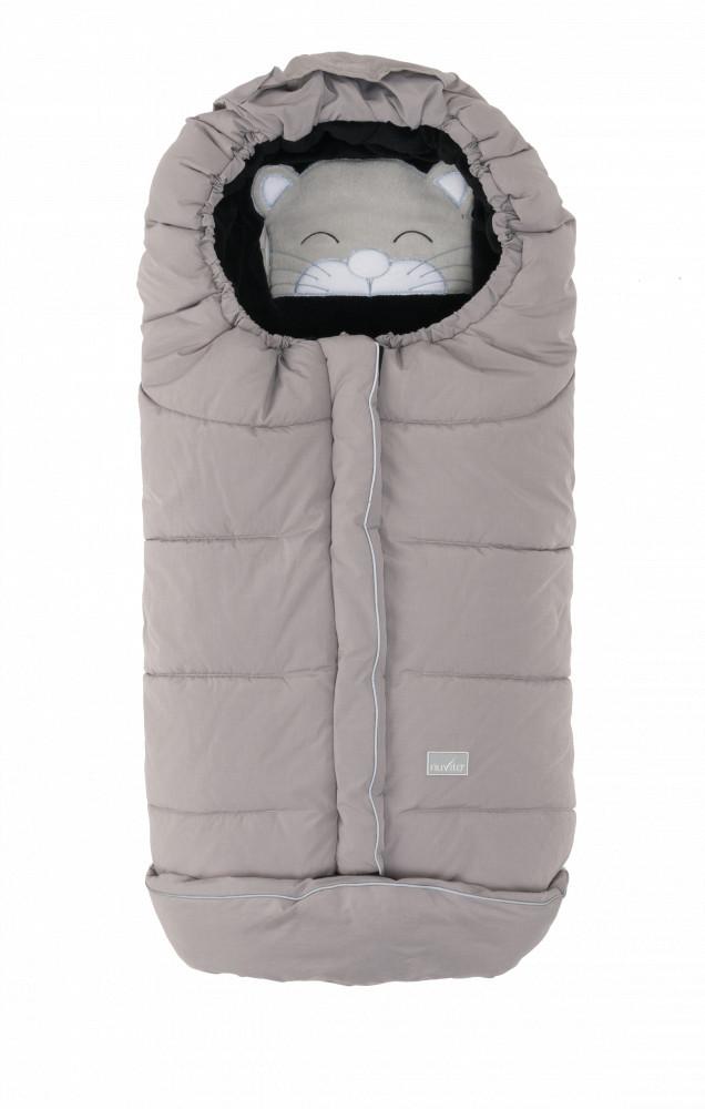 Nuvita Junior Cuccioli sac de iarna 100 cm - Cat Melange Gray / Black - 9605 imagine