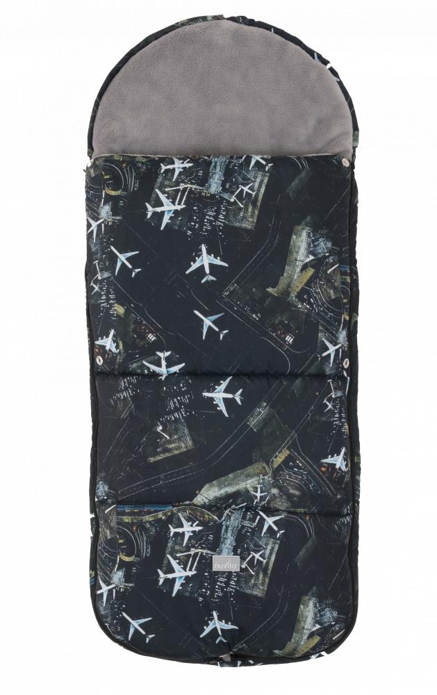 Nuvita Junior Smart sac de iarna 100cm - Black Airplanes / Gray - 9585 imagine