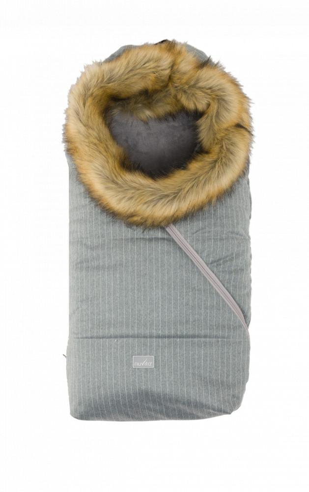 Nuvita Ovetto Pop sac de iarna cu blanita 80cm - Pinstripe Gray / Beige - 9236 imagine