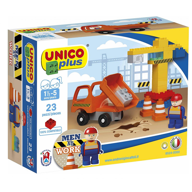 Joc de construit Unico Man at work 23 piese AH imagine
