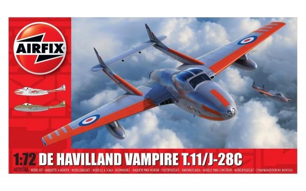 Kit constructie Airfix avion deHavilland Vampire T.11 / J-28C 1:72