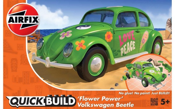 Kit constructie Airfix Quick Build Masina Flower Power