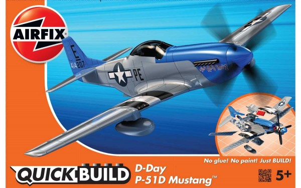 Kit cosntructie Airfix Quick Build Avion D-Day P-51D Mustang