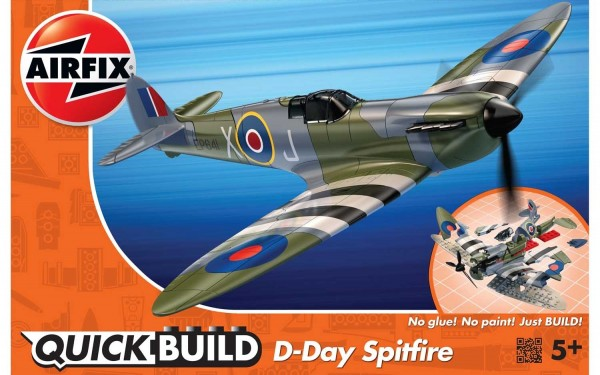 Kit cosntructie Airfix Quick Build Avion D-Day Spitfire