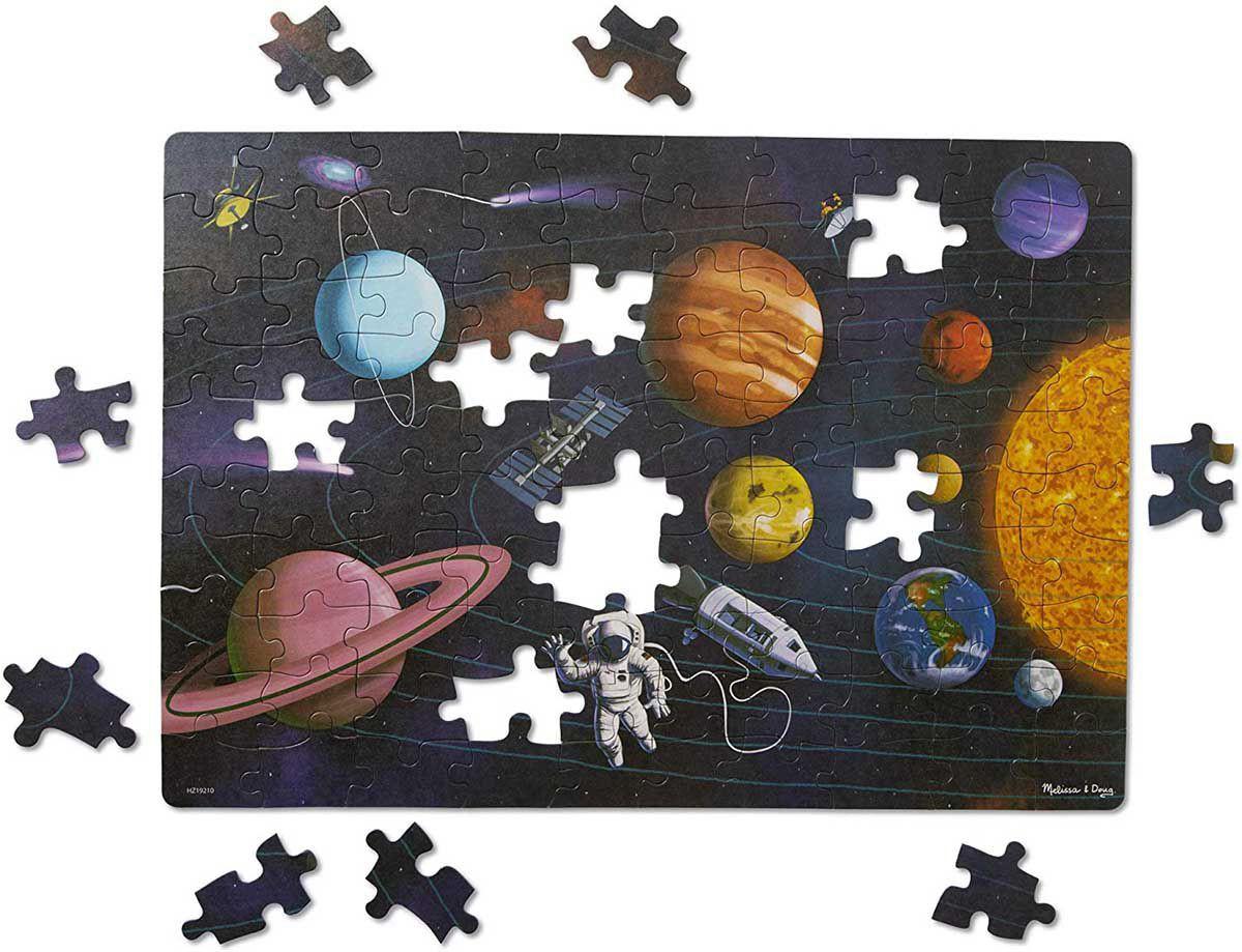 Primul meu puzzle eco din carton Spatiul - Melissa & Doug
