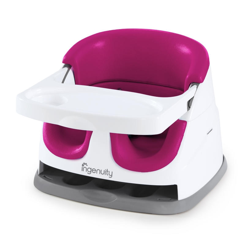 Ingenuity - Scaun de masa 2 in 1 Pink Flambe imagine