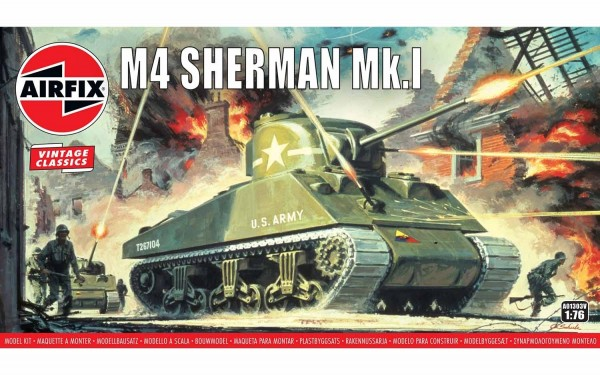 Kit constructie Airfix Tanc Sherman M4 Mk1 1:76