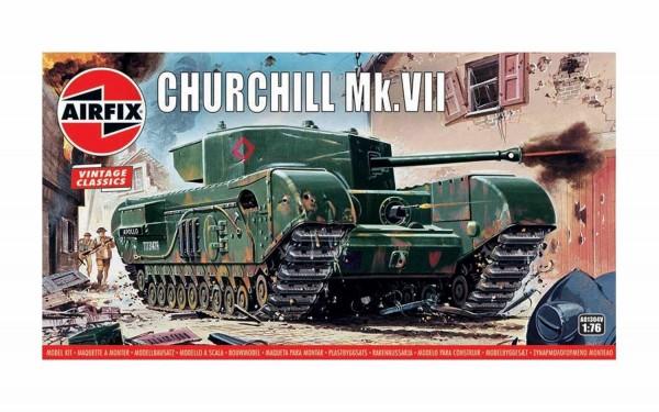 Kit constructie Airfix Tanc Vintage Classics - Churchill Mk.VII Tank 1:76