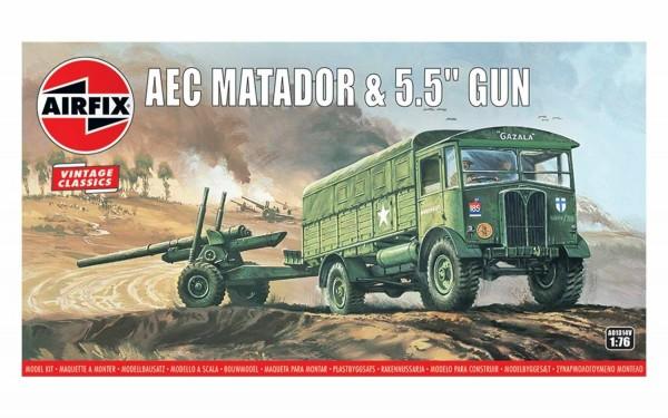 Kit cosntructie Airfix AEC Matador and 5.5` Gun 1:76
