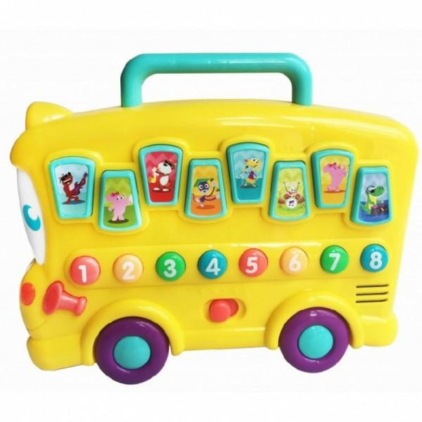 Jucarie bebelusi interactiva Autobuz cu sunete animale