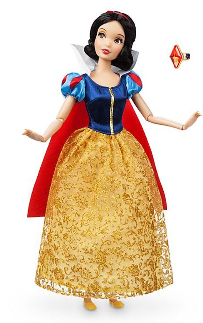 Papusa Printesa Disney Alba ca Zapada cu inel