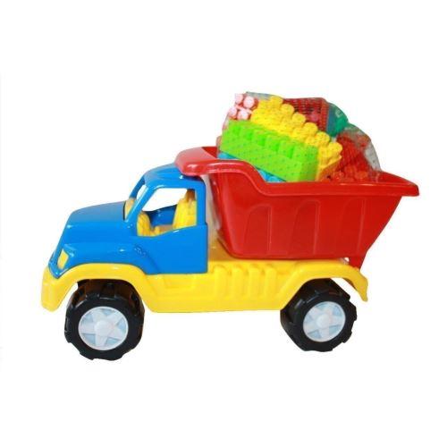Camion Legomion mic si cuburi de constructie