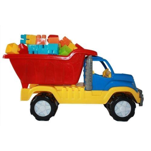 Camion Legomion mare si cuburi de constructie imagine