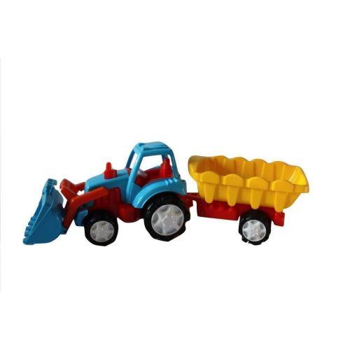 Tractor excavator super cu remorca