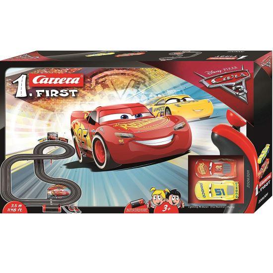 Set pista de joaca Carrera, Disney Cars 3, Fulger McQueen versus Cruz Ramirez, 3.5 m