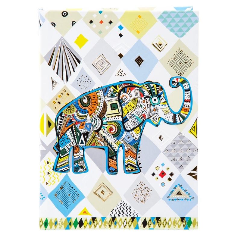 Agenda A5 embosata Ethno Elephant imagine