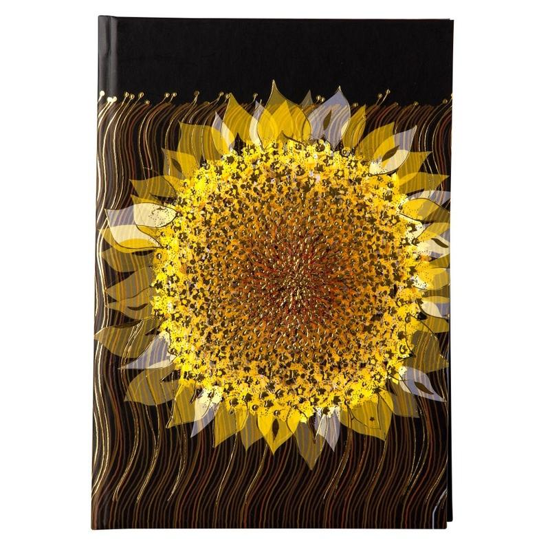 Agenda A5 embosata Starry Sunflower imagine