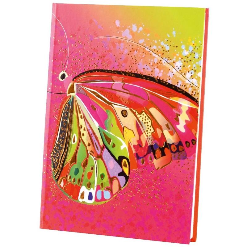 Agenda Goldbuch A5 cu efect special Fluture roz imagine