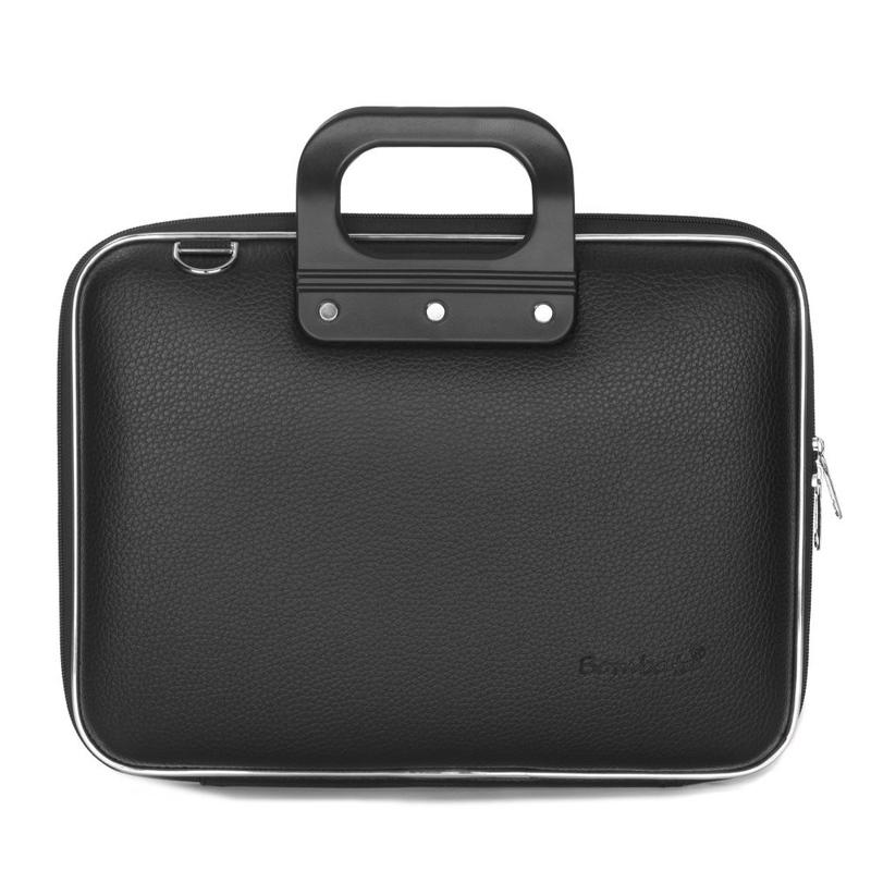 Geanta lux business laptop 13 in Medio Bombata-Negru