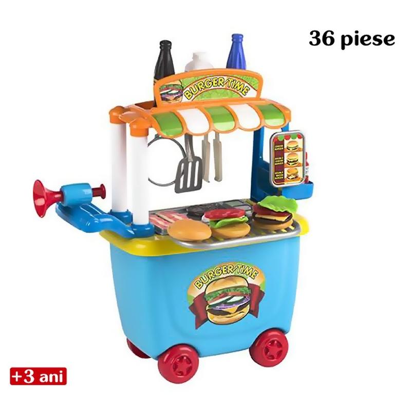 Jucarie de rol - Carucior de hamburgeri imagine
