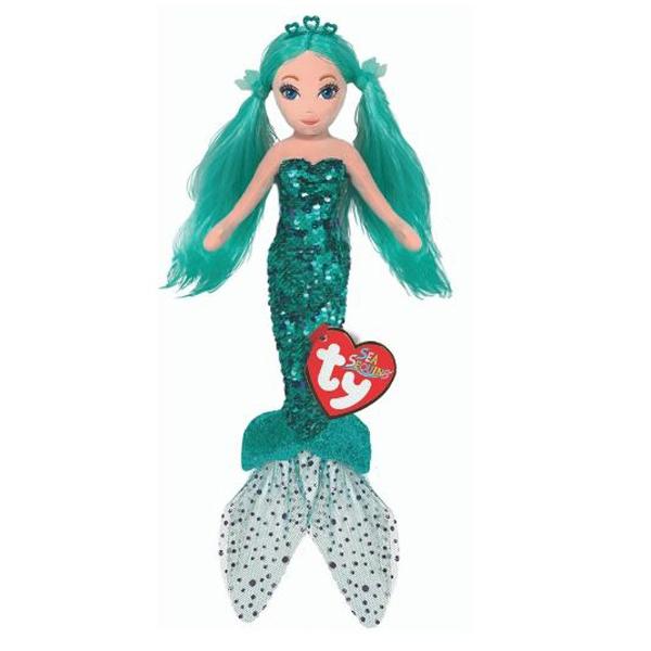 Sirena cu paiete turcoaz, WAVERLY (27 cm) - Ty