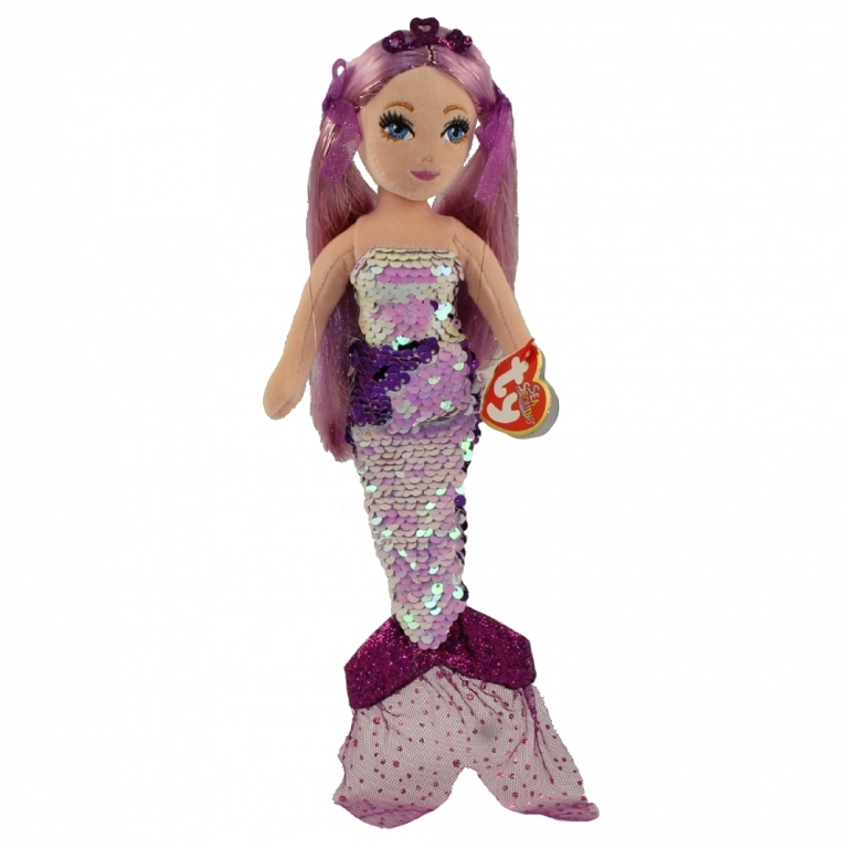 Sirena cu paiete maro, GINGER (27 cm) - Ty