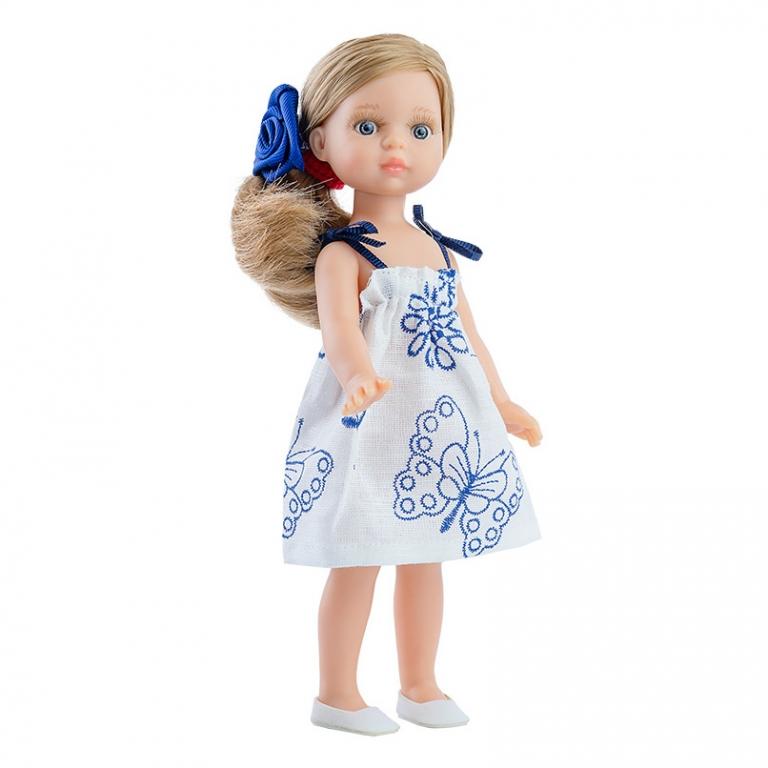 Papusa VALERIA in rochie cu fluturasi - MiniAmigas, Paola Reina