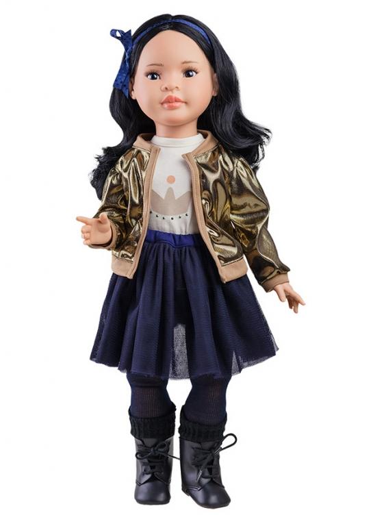 Papusa MEI in fusta din tul si jacheta aurie, Paola Reina