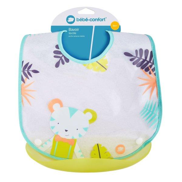 Baveta + buzunar plastic detasabil Jungle Vibes Bébé Confort imagine