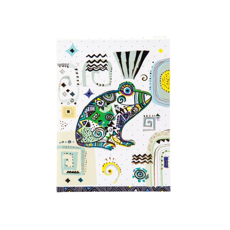 Agenda Goldbuch A5 embosata Ethno Frog imagine