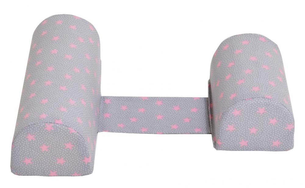 Perna anti-rasucire si pozitionare bebelusi Pink Stars Grey imagine
