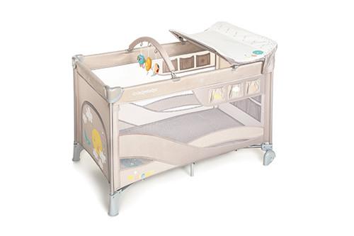 Baby Design Dream 09 Beige 2020 - Patut Pliabil cu 2 nivele imagine