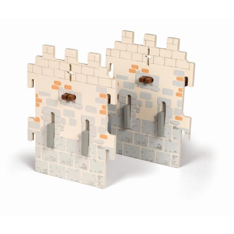 Papo Set 2 pereti mici din lemn pentru castel imagine