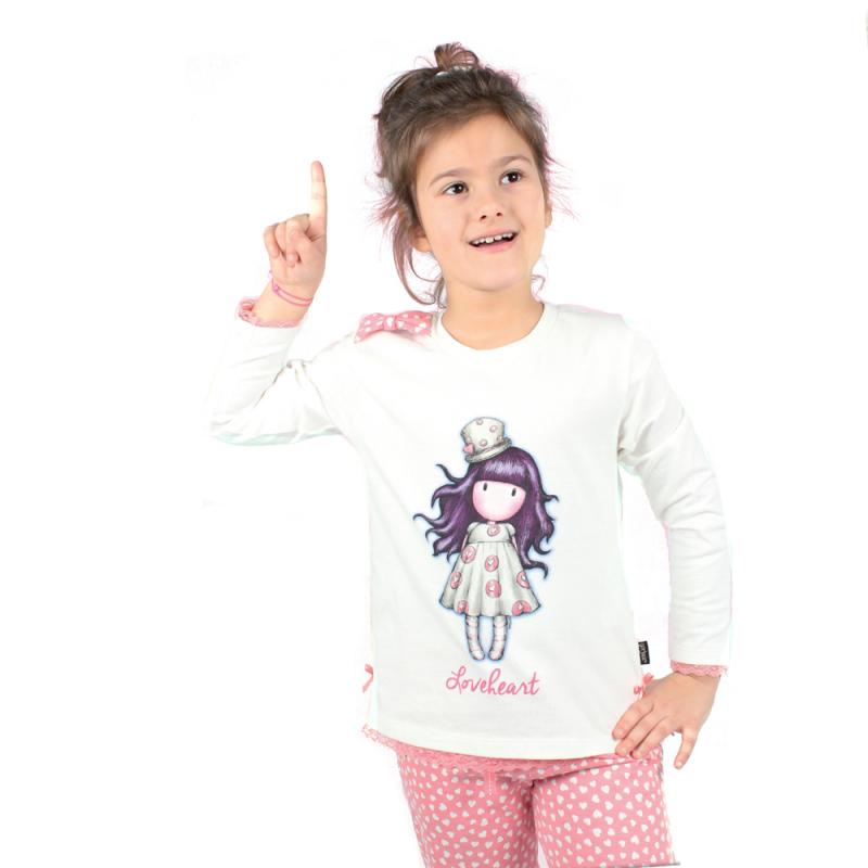 Pijama copii Gorjuss Love Heart imagine