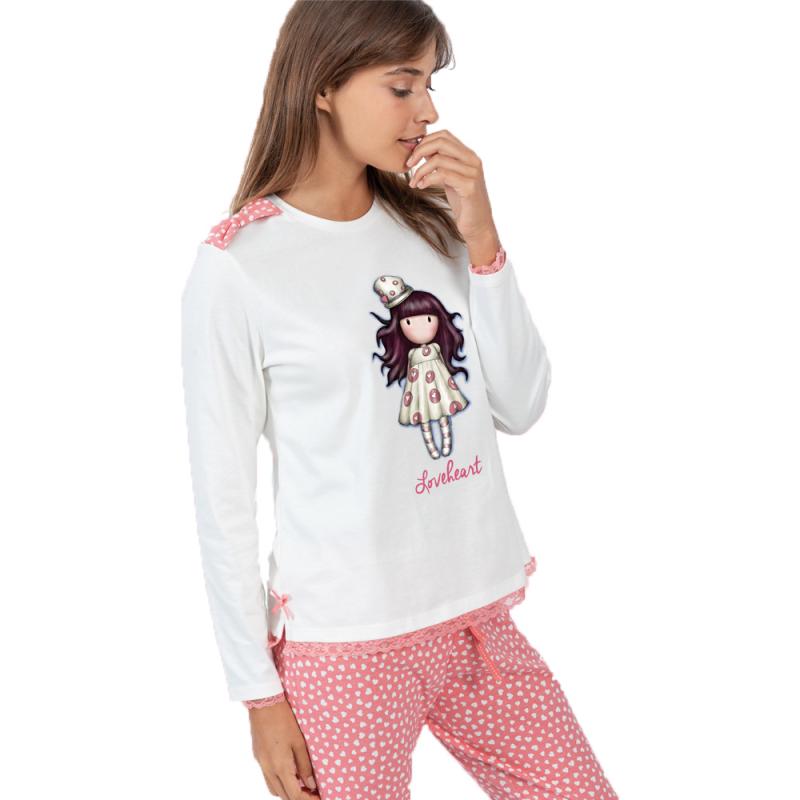 Pijama dama Gorjuss Love Heart imagine