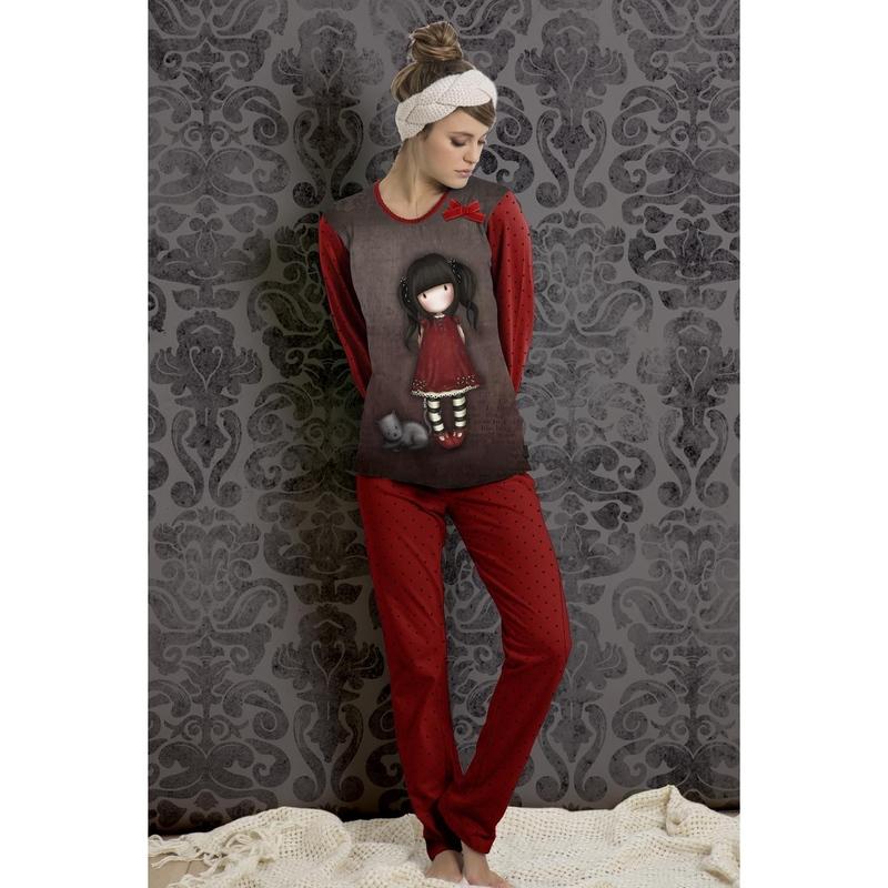 Pijama dama in cufar Gorjuss Ruby lunga imagine
