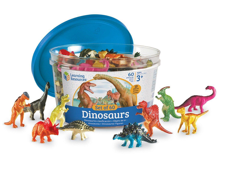 Set pentru sortat - Dinozauri jucausi (60 piese)