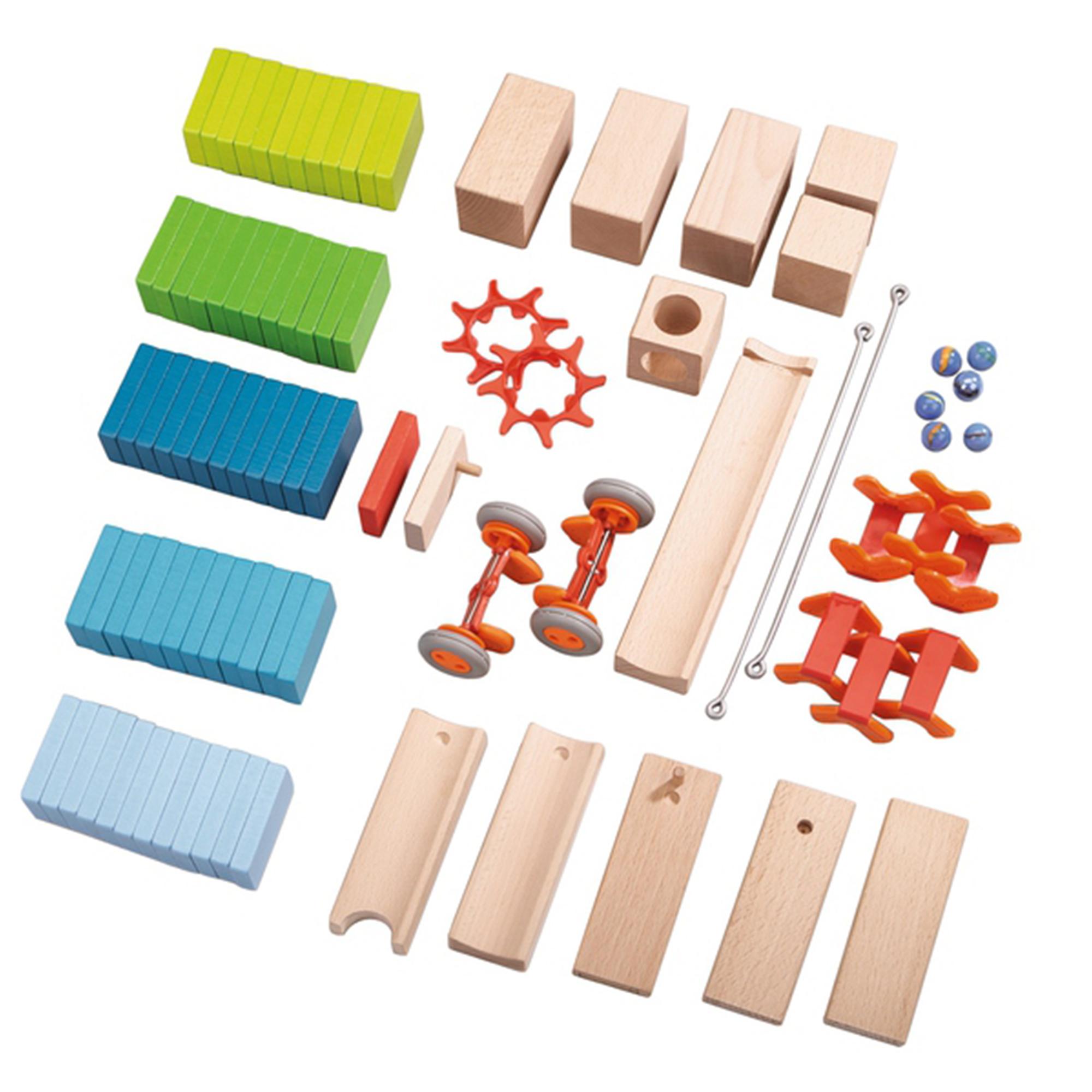 Domino din lemn pentru incepatori, haba, 87 piese, 3-10ani