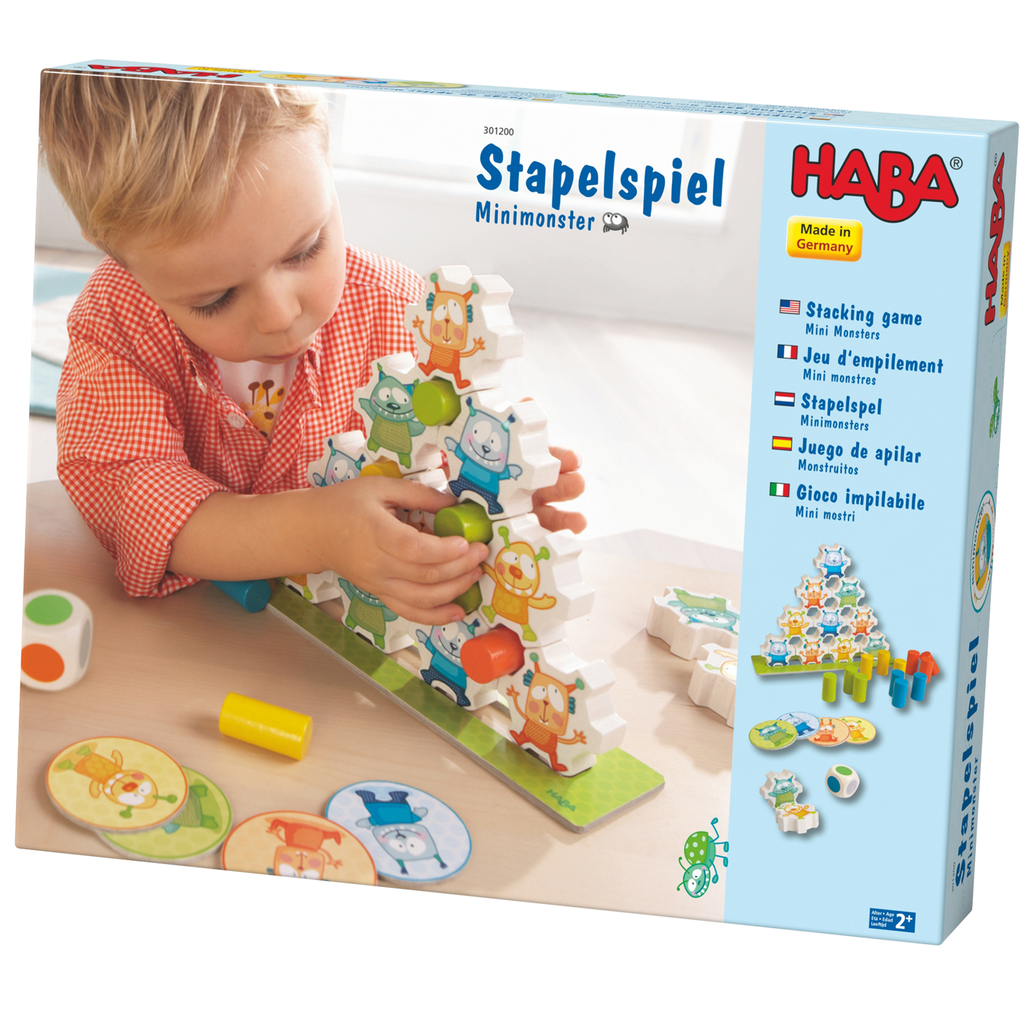 Joc de constructie, haba, mini monsters, 2ani+ imagine