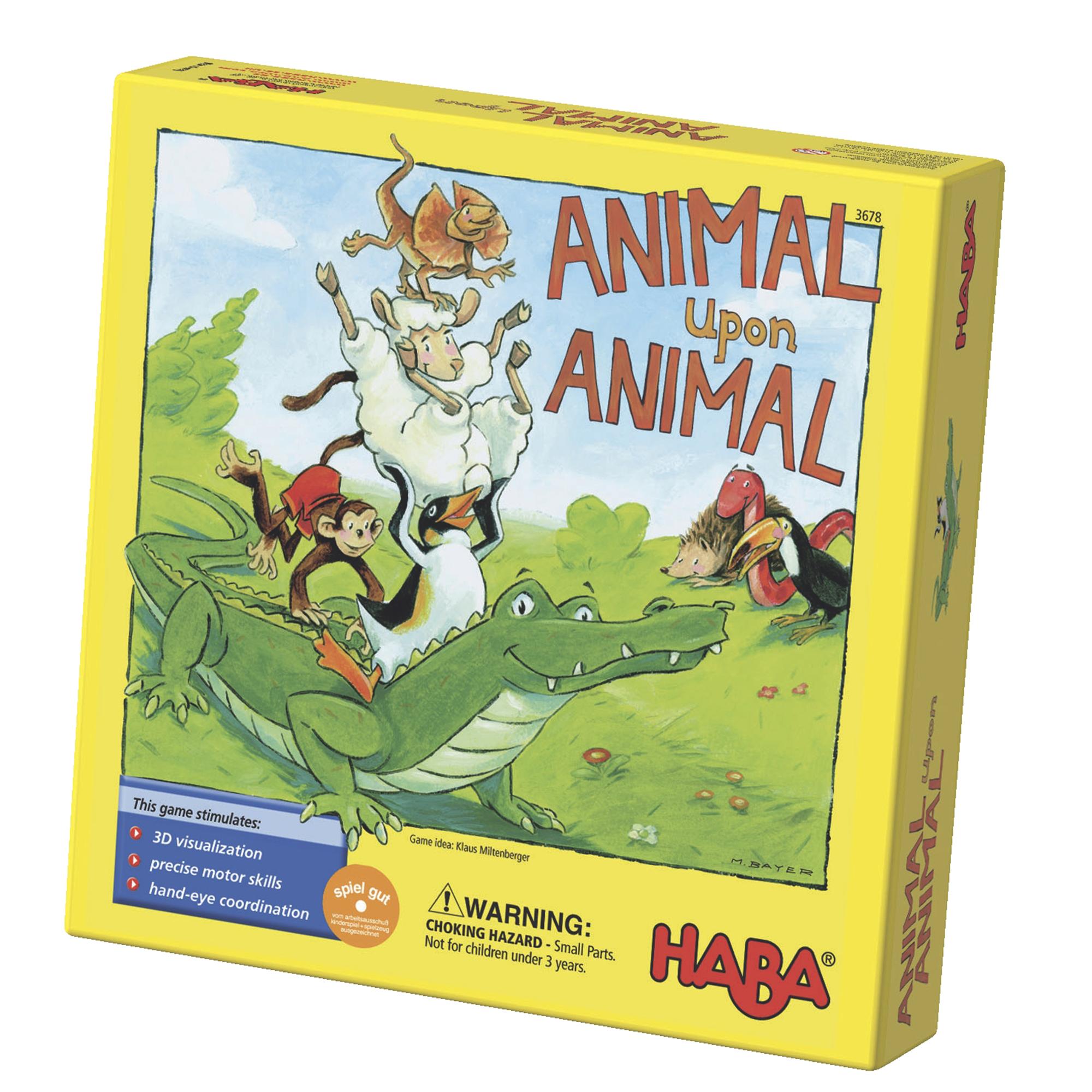 Joc de constructie, haba,piramida animalelor, 4ani+