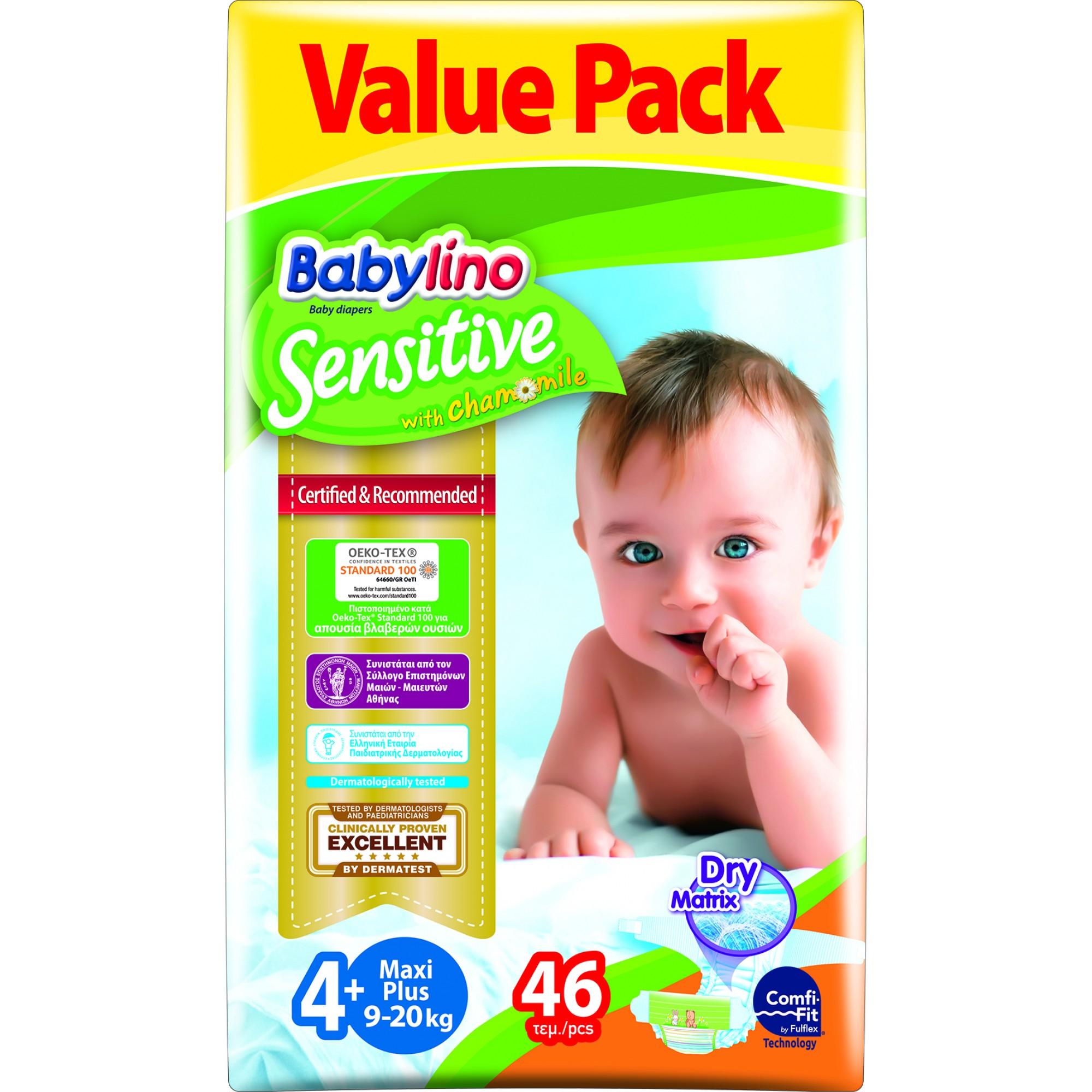 Scutece babylino sensitive economy n4+ 9-20kg/46 buc imagine