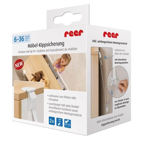 Set fixare anti-inclinare mobilier REER 73020 imagine