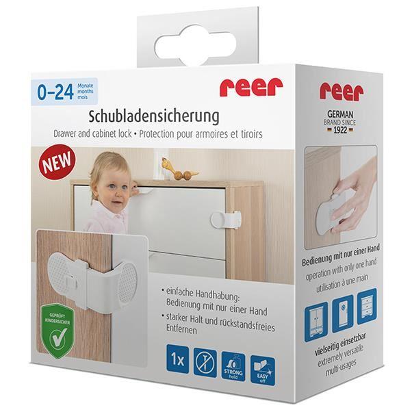 Siguranta pentru blocare sertare si usi de dulapuri REER 71050 imagine