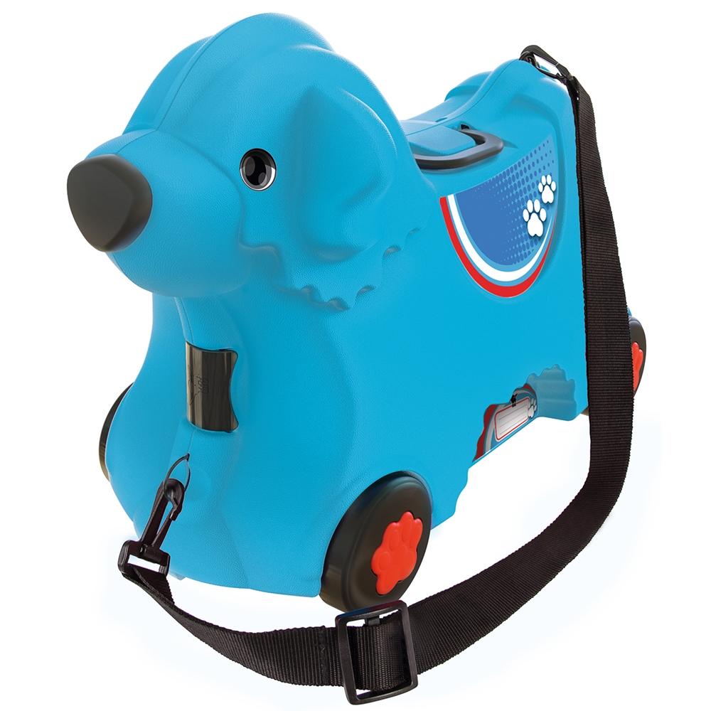 Masinuta de impins tip valiza Big Bobby Trolley blue imagine
