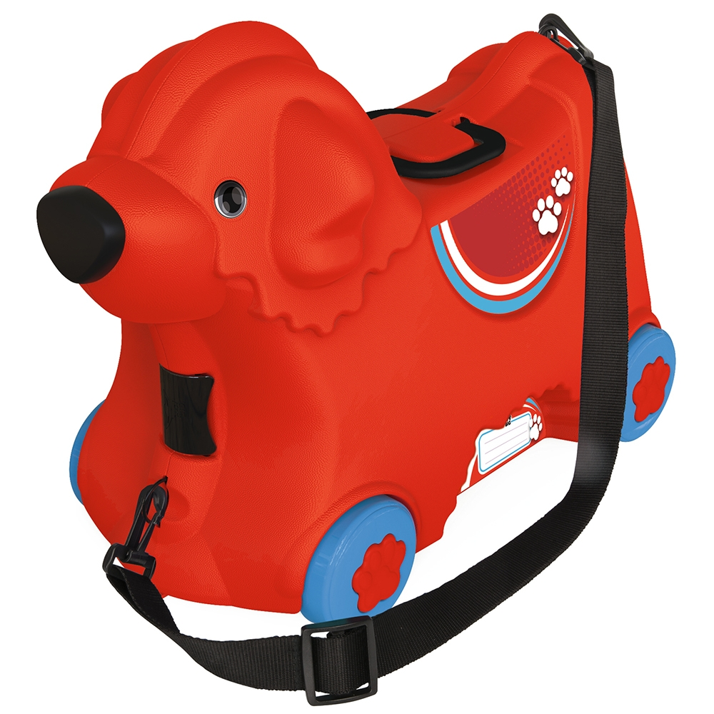 Masinuta de impins tip valiza Big Bobby Trolley red imagine